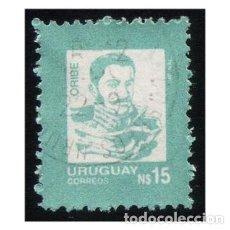 Sellos: URUGUAY 1988. MI 1805, YT 1256. PRESIDENTE GENERAL MANUEL URIBE. USADO. Lote 142558502
