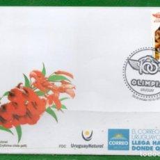 Sellos: URUGUAY-2018 EN FDC-100 AÑOS CLUB A. OLIMPIA TT: DEPORTES, BÁSQUEBAL, NATACIÓN. Lote 146589174