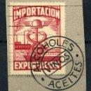 Sellos: URUGUAY. TIMBRE PARA IMPORTACIÓN / EXPORTACIÓN DE ALCOHOLES, VINOS Y ACEITES. Lote 148890606