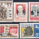 Sellos: URUGUAY 1968 / 71 - YVERT 773 + 777 + 784 + 812 + AEREOS 356 + 358 ( ** ). Lote 160359230