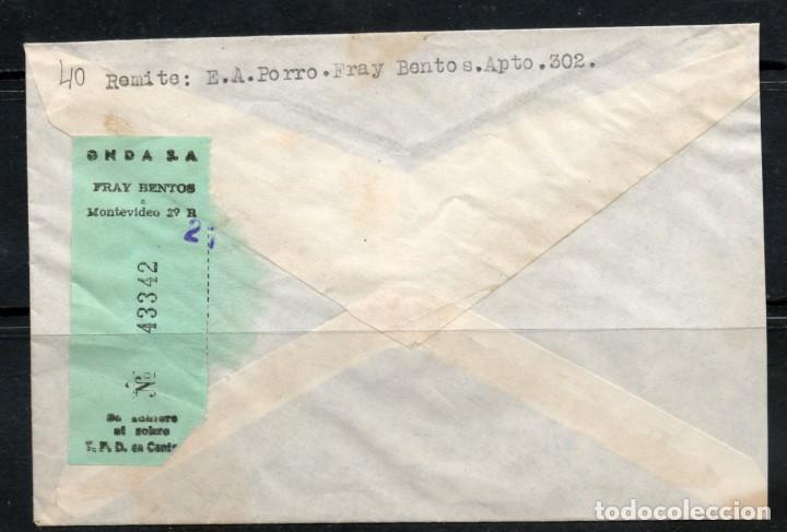 Sellos: URUGUAY Sobre Circulado Por Agencia Onda Comprobante de envío Nº 43342, actualmente no existe. - Foto 2 - 162032714