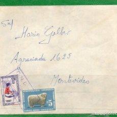 Sellos: URUGUAY 1968 SOBRE CIRCULADO POR AGENCIA ONDA COMPROBANTE DE ENVÍO Nº 14883, ACTUALMENTE NO EXISTE.. Lote 162036666
