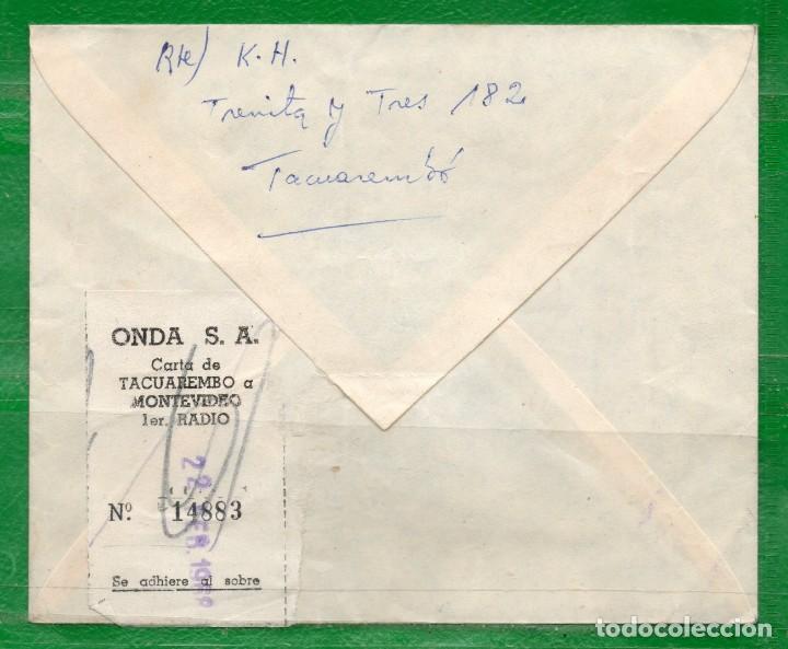 Sellos: URUGUAY 1968 Sobre Circulado Por Agencia Onda Comprobante de envío Nº 14883, actualmente no existe. - Foto 2 - 162036666