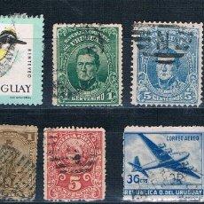 Sellos: LOTE DE 7 SELLOS USADOS DE URUGUAY. Lote 172648279