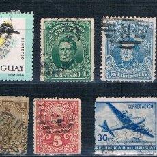 Sellos: LOTE DE 7 SELLOS USADOS DE URUGUAY. Lote 183036557