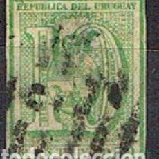 Sellos: URUGUAY Nº 32 (AÑO 1866), CIFRAS, USADO. Lote 190990856