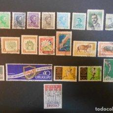Sellos: URUGUAY-LOTE DE 22 SELLOS DIFERENTES. Lote 196326955