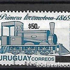 Sellos: LOCOMOTORA ANTIGUA. URUGUAY. SELLO AÑO 2004 . CATÁLOGO YVERT 7,00 €. Lote 198313171