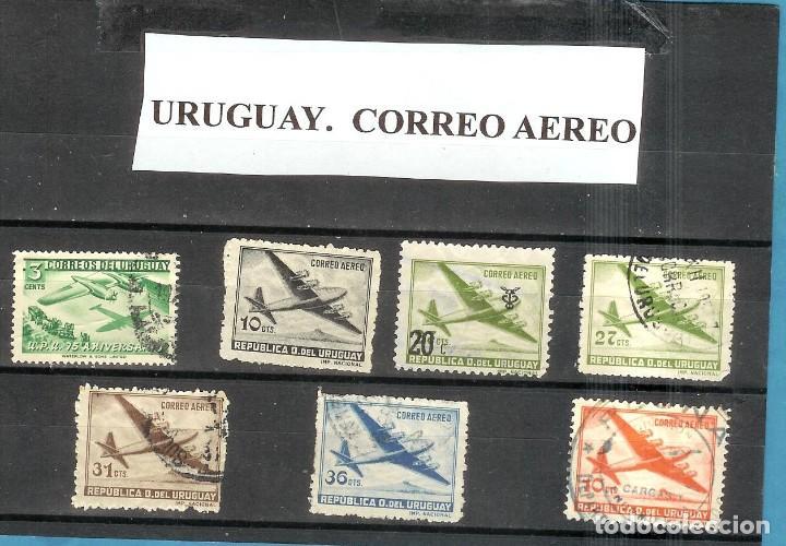 LOTE DE SELLOS DE URUGUAY. CORREO AEREO (Sellos - Extranjero - América - Uruguay)