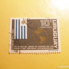 Sellos: URUGUAY 1967 - REUNIÓN JEFES ESTADO DE LOS PAISES DEL SISTEMA INTERAMERICANO.. Lote 205512877