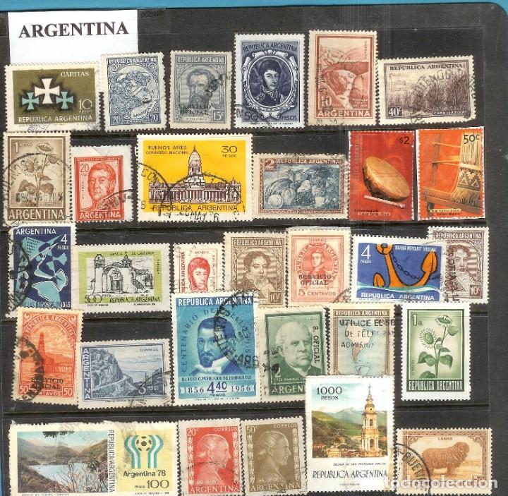 LOTE DE SELLOS DE ARGENTINA (Sellos - Extranjero - América - Uruguay)
