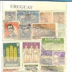 Sellos: LOTE DE SELLOS DE URUGUAY. Lote 205550360