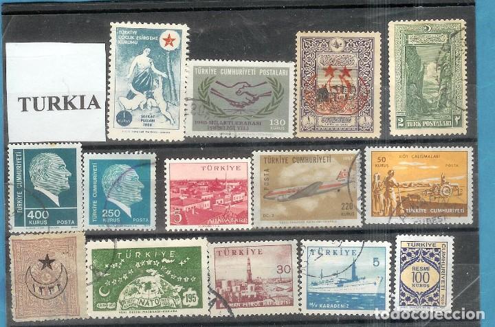 LOTE DE SELLOS DE TURKIA (Sellos - Extranjero - América - Uruguay)