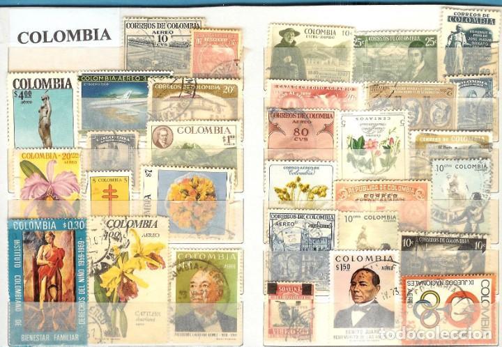 LOTE DE SELLOS DE COLOMBIA (Sellos - Extranjero - América - Uruguay)