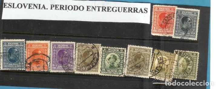 LOTE DE SELLOS DE ESLOVENIA. PERIODO ENTREGUERRAS (Sellos - Extranjero - América - Uruguay)