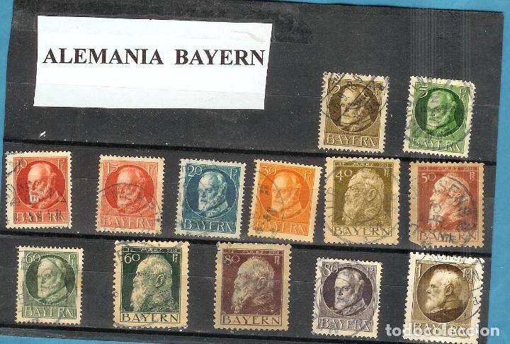 LOTE DE SELLOS DE ALEMANIA BAYERN (Sellos - Extranjero - América - Uruguay)