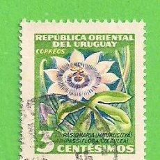 Sellos: URUGUAY - MICHEL 779 - YVERT 626 - MOTIVOS LOCALES - PASIONARIA. (1954).. Lote 206562150