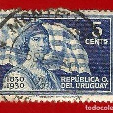 Sellos: URUGUAY. 1930. LIBERTAD Y BANDERA. Lote 208118163
