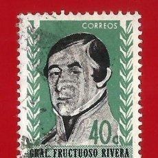 Sellos: URUGUAY. 1962. GRAL. FRUCTUOSO RIVERA. Lote 208118373