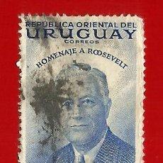 Sellos: URUGUAY. 1953. HOMENAJE A ROOSEVELT. Lote 210761799