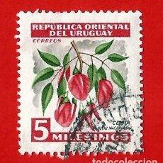 Sellos: URUGUAY. 1954. CEIBO. FLOR NACIONAL. Lote 210762552