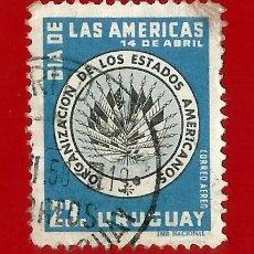 Sellos: URUGUAY. 1952 ORGANIZACION DE ESTADOS AMERICANOS. Lote 211589655