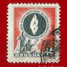 Sellos: URUGUAY. 1958. DECLARACION UNIVERSAL DE DERECHOS HUMANOS. Lote 211589846
