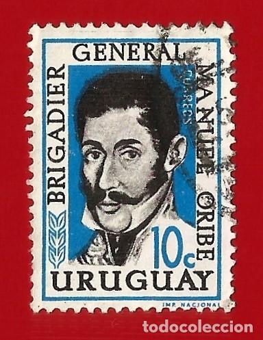 URUGUAY. 1961. BRIGADIER GENERAL MANUEL ORIBE (Sellos - Extranjero - América - Uruguay)