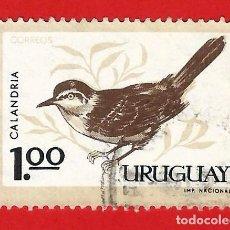 Sellos: URUGUAY. 1963. PAJAROS. CALANDRA. Lote 211594496