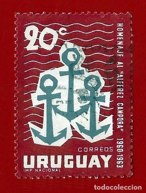 """URUGUAY. 1963. VUELTA AL MUNDO DEL VELERO """" ALFEREZ CAMPORA"""" (Sellos - Extranjero - América - Uruguay)"""