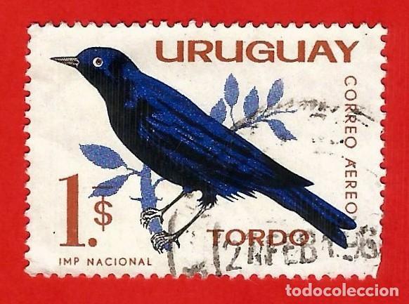 URUGUAY. 1963. PAJAROS. TORDO (Sellos - Extranjero - América - Uruguay)