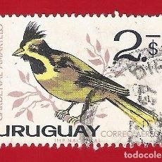 Sellos: URUGUAY. 1963. PAJAROS. CARDENAL AMARILLO. Lote 211596244