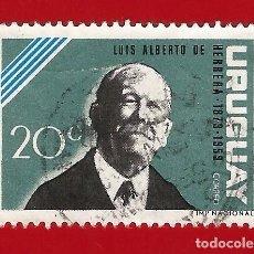 Sellos: URUGUAY. 1964. LUIS ALBERTO DE HERRERA. Lote 211596509