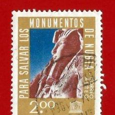 Sellos: URUGUAY. 1964. UNESCO. MONUMENTO DE NUBIA. Lote 211596712