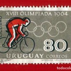 Sellos: URUGUAY. 1965. JJ. OO. TOKIO. CICLISMO. Lote 211597275
