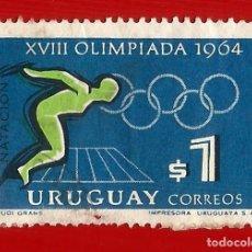 Sellos: URUGUAY. 1965. JJ. OO. TOKIO. NATACION. Lote 211597405