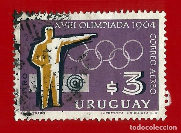 URUGUAY. 1965. JJ. OO. TOKIO. TIRO CON PISTOLA (Sellos - Extranjero - América - Uruguay)
