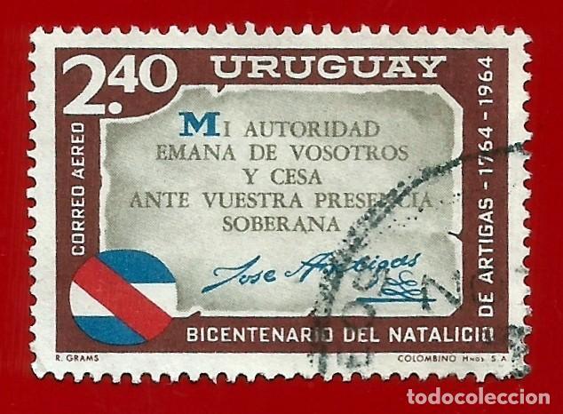 URUGUAY. 1965. BICENTENARIO DEL NATALICIO DE JOSE ARTIGAS (Sellos - Extranjero - América - Uruguay)
