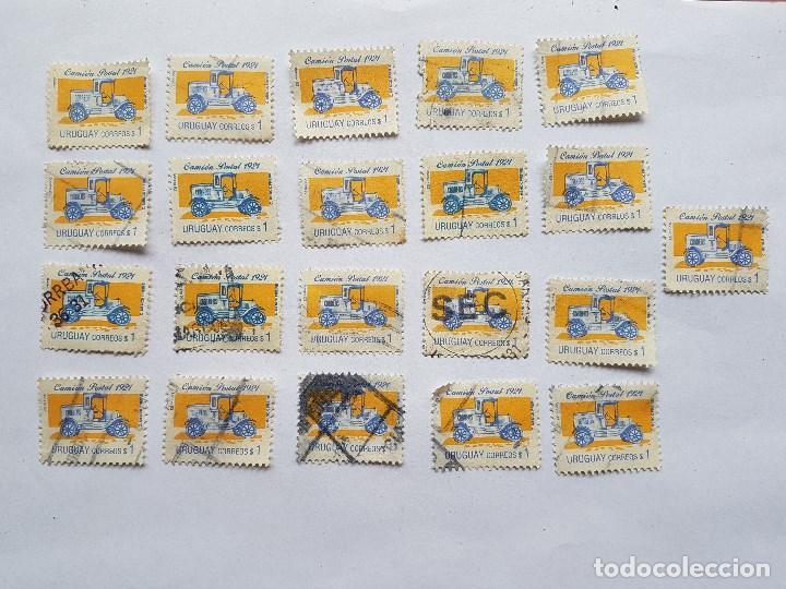 URUGUAY 1993, CAMION POSTAL 1921 $ 1 - 21 STAMPS 21 SELLOS (Sellos - Extranjero - América - Uruguay)