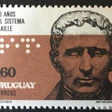 Sellos: URUGUAY 1976 - 150 AÑOS DEL SISTEMA BRAILLE - YVERT Nº 942**. Lote 218705387