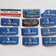 Sellos: BY AIR MAIL, PAR AVION, PER LUCHTPOST 12 SELLOS, 12 STAMPS. Lote 221627262