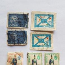 Sellos: URUGUAY 7 SELLOS, BLANDENGUES DE ARTIGAS, JOSE RODO, CENTENARIO UNION POSTAL UNIVERSAL 1974. Lote 221627523