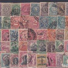 Sellos: URUGUAY.- INTERESANTE LOTE DE 170 SELLOS MATASELLADOS DESDE 1866 A 1940. Lote 222190405