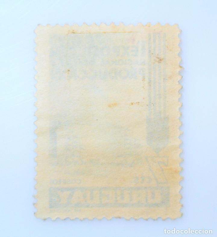 Sellos: SELLO POSTAL URUGUAY 1956, 7 c, PRIMERA EXPOSICION NACIONAL DE LA PRODUCCION, USADO - Foto 2 - 231596055