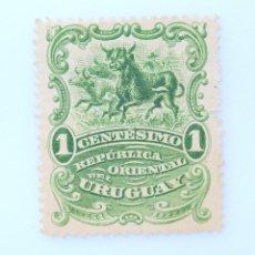 Sellos: SELLO POSTAL URUGUAY 1900, 1 C, TOROS, SIN USAR. Lote 231711015