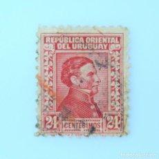 Sellos: SELLO POSTAL URUGUAY 1928, 24 C, GENERAL JOSÉ ARTIGAS USADO. Lote 231722490