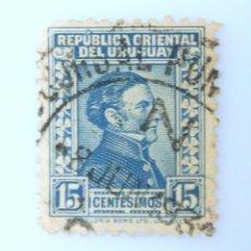 Sellos: SELLO POSTAL URUGUAY 1928, 15 C, GENERAL JOSÉ ARTIGAS, USADO. Lote 231746840