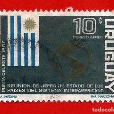 Sellos: URUGUAY. 1967. BANDERA. MAPA DE AMERICA. Lote 208118607