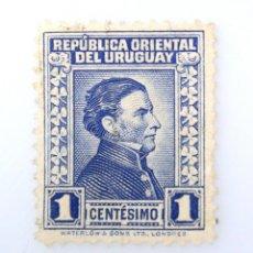 Sellos: SELLO POSTAL URUGUAY 1943, 1 C, GENERAL JOSÉ ARTIGAS, USADO. Lote 231806660