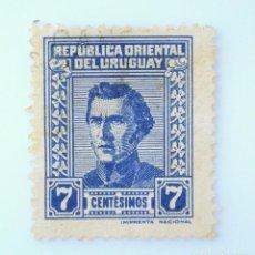 Sellos: SELLO POSTAL URUGUAY 1948, 7 C, GENERAL JOSÉ ARTIGAS, USADO. Lote 231807845